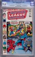 Justice League of America #82 CGC 9.6 ow/w