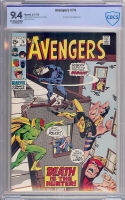 Avengers #74 CBCS 9.4 ow/w