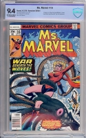 Ms. Marvel #16 CBCS 9.4 ow/w Newsstand Edition
