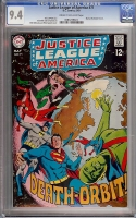 Justice League of America #71 CGC 9.4 cr/ow