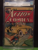 Action Comics #30 CGC 5.0 ow
