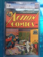 Action Comics #32 CGC 7.0 cr/ow
