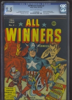 All Winners Comics #2 CGC 8.5 cr/ow