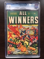 All Winners Comics #10 CGC 7.5 cr/ow