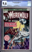 Werewolf By Night #33 CGC 9.6 w