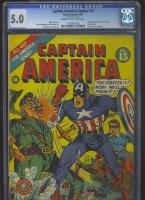 Captain America Comics #13 CGC 5.0 cr/ow
