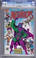 Avengers #267 CGC 9.8 w