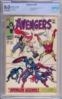Avengers #58 CBCS 8.0 ow/w