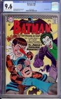 Batman #186 CGC 9.6 ow/w