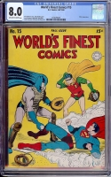 World's Finest Comics #15 CGC 8.0 ow/w