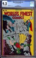 World's Finest Comics #16 CGC 9.2 ow/w