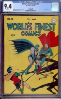 World's Finest Comics #19 CGC 9.4 ow Crowley Copy