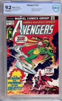 Avengers #116 CBCS 9.2 ow/w