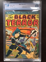 Black Terror #1 CBCS 7.0 cr/ow