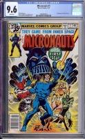 Micronauts #1 CGC 9.6 w