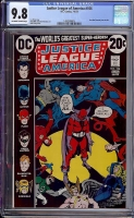 Justice League of America #106 CGC 9.8 ow/w