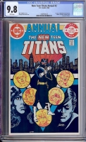 New Teen Titans Annual #2 CGC 9.8 w
