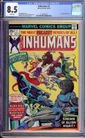 Inhumans #1 CGC 8.5 w