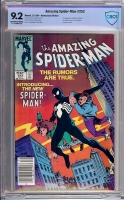 Amazing Spider-Man #252 CBCS 9.2 ow/w Newsstand Edition