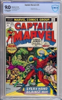 Captain Marvel #25 CBCS 9.0 ow/w