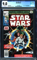 Star Wars #1 CGC 9.0 w