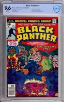 Black Panther #1 CBCS 9.6 w Newsstand Edition