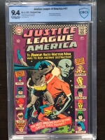 Justice League of America #47 CBCS 9.4 ow/w Savannah