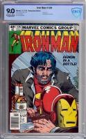 Iron Man #128 CBCS 9.0 ow/w Newsstand Edition