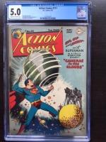 Action Comics #111 CGC 5.0 cr/ow