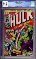 Incredible Hulk #181 CGC 9.2 cr/ow