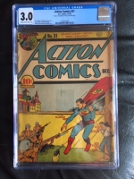 Action Comics #31 CGC 3.0 cr/ow