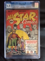 All Star Comics #7 CGC 5.5 ow