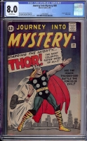 Journey Into Mystery #89 CGC 8.0 ow