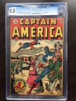 Captain America Comics #34 CGC 5.5 cr/ow