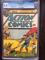 Action Comics #31 CGC 5.0 ow