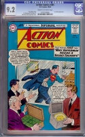Action Comics #305 CGC 9.2 cr/ow