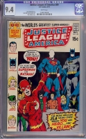 Justice League of America #89 CGC 9.4 w