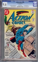 Action Comics #469 CGC 9.6 w