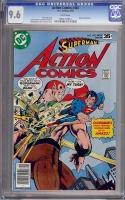 Action Comics #483 CGC 9.6 w