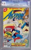 Action Comics #484 CGC 9.8 ow/w