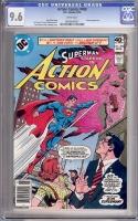 Action Comics #498 CGC 9.6 w