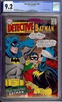 Detective Comics #363 CGC 9.2 ow/w Bogota