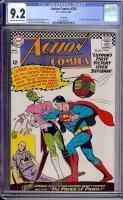 Action Comics #335 CGC 9.2 cr/ow Savannah