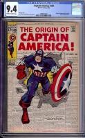 Captain America #109 CGC 9.4 ow/w