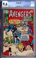 Avengers #83 CGC 9.6 ow/w