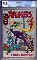 Avengers #71 CGC 9.8 w