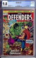 Defenders #10 CGC 9.8 ow/w