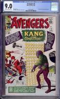 Avengers #8 CGC 9.0 ow/w