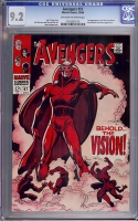 Avengers #57 CGC 9.2 ow/w