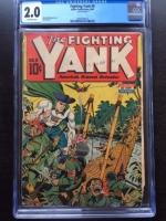 Fighting Yank #9 CGC 2.0 ow